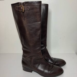 Ralph Lauren riding boots brown leather 11